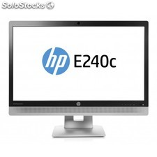 "HP - EliteDisplay E240c 23.8"""" Full HD IPS Mate Negro, Plata pantalla para PC"