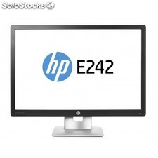 "HP - EliteDisplay E242 24"""" Full HD IPS Mate Negro, Plata pantalla para PC"