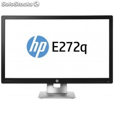 "HP - EliteDisplay E272q 27"""" Wide Quad HD IPS Mate Negro, Plata pantalla para PC"