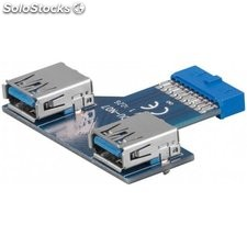 hub usb 3.0 adp-a pc presa interna 19 poli 55005
