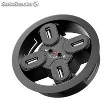 hub usb da incasso 4 porte usb 2.0 con audio foro 80 mm 93896