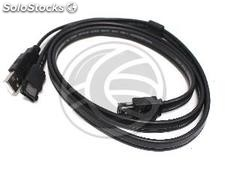 Hybrid Cable eSATAp to eSATA and usb a male 3m (UE73)