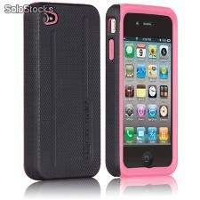 Hybrid Tough iPhone 4 e 4s - Preta e Rosa
