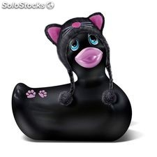 i rub my duckie hoddie kitty black pink