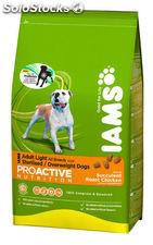 Iams perro adulto light 3 kg.