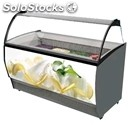 Ice cream display counter - mod. brava lx - static cooling - curved glass -