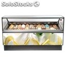 Ice cream display counter - mod. gaia - ventilated cooling - available with