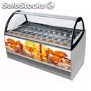 Ice cream display counter - mod. millennium lx - ventilated cooling - top-hinged