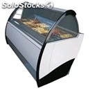 Ice cream display counter - mod. mito power - ventilated cooling - top-hinged