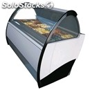 Ice cream display counter - mod. mito winner - ventilated cooling - top-hinged
