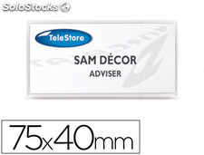 Identificador adhesivo 3l office para textil 40x75 mm pack 24 unidades