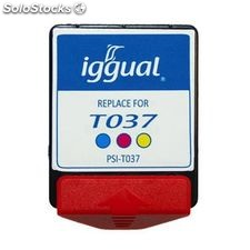 Iggual cartucho reciclado epson t037 color