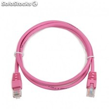 iggual - IGG310762 1m Cat5e u/utp (utp) Rosa cable de red