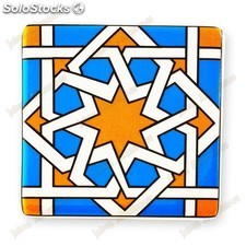 Imán Azulejo Arabe Cuadrado - Ideal Nevera - 6 cm