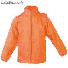 Impermeable grid naranja