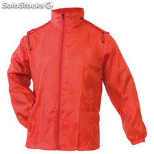 Impermeable grid rojo