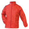 Impermeable rojo grid