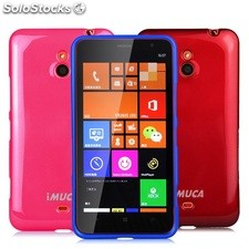 IMUCA Cool Color Phone Case TPU Rubber Silicone Plastic Soft Back Case for Nokia