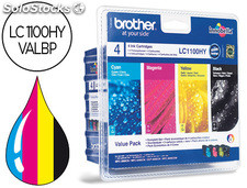 Ink-jet brother lc-1100BK /m/y/c pack 4 colores alta capacidad 900 pag bk- 750