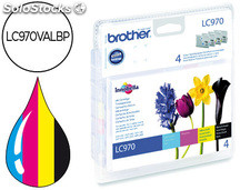 Ink-jet brother lc-970 pack negro/cian/magenta/amarillo
