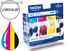 Ink-jet brother lc-980BK dcp-145 dcp-165 mfc-250 mfc-290 negro magenta amarillo