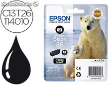 Ink-jet epson 26 XP600 / 605 / 700 / 800 negro 200 pag