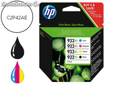 Ink-jet hp officejet 6100 6600 6700 7110 7612 negro + tricolor pack 4 xl