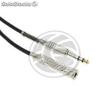 Instrument microphone stereo audio cable jack 6.3mm TRS Male to Female 10m