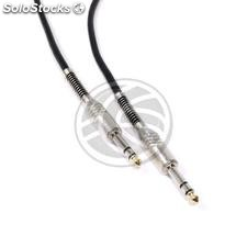 Instrument microphone stereo audio cable jack 6.3mm TRS Male to Male 2m