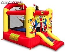 Insuflável Clown Slide & Hoop Bouncer- 3,3x2,3x2,3
