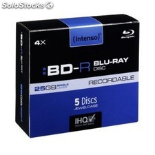 Intenso bd-r blu-ray 4x 25gb pack 5uds