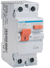 Interruptor diferencial tipo AC 2P Hager 40A 30mA