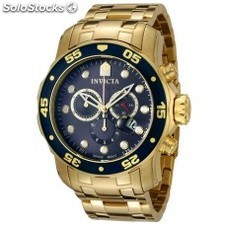 Invicta 0073 - Men's Pro Diver Collection Chronograph 18k Gold-Plated Watch