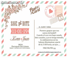 Invitación boda post card