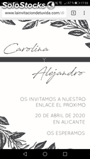 Invitacion digital Diseño Abstract Net