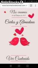 Invitacion digital Diseño Love Bird
