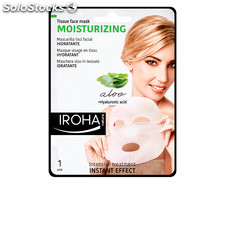Iroha TISSUE MASK moisturizing aloe + green tea + ginseng + HA