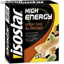 Isostar Barritas High Energy Almendra 6 barritas x 25 gr