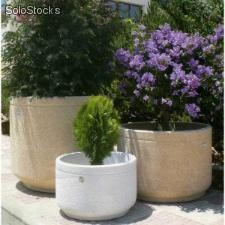 Jardiniere cylindrique PM Blanc H350 - D520