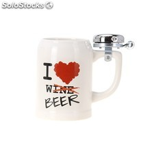 Jarra de cerveza co timbre I Love Beer