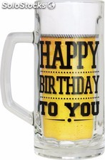 Jarra de cerveza Happy Birthday To you