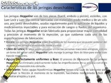 Jeringa desechable esteril luer lock de 60ml