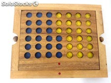 Juego artesanal connect four grande