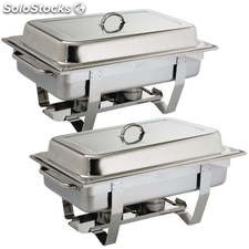 Juego de dos chafing dish Milán Olympia S300