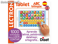Juego diset didactico lectron mini tablet abc biling e