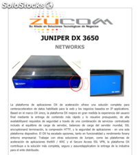 Juniper dx 3650 networks