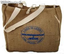 Jute shopping en twill de traitement de la mer et faire du shopping