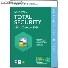 Kaspersky Lab - Total Security - Multi-Device 2016 Base license 3usuario(s)