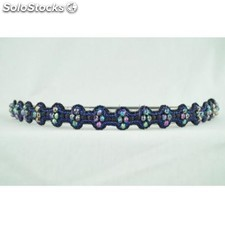 Katrice-band blue - pink pewter headbands
