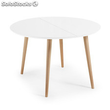 Kavehome - Mesa extensible..., disponible en Madera y de color Natural,Blanco